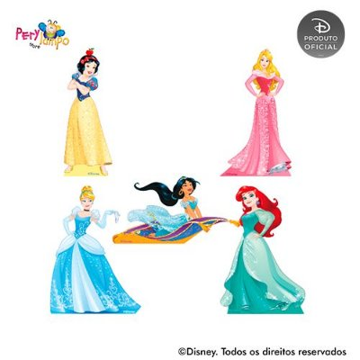 Kit 5 displays de mesa - Princesas Disney Empoderadas