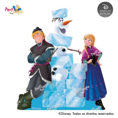 Kit 4 displays de mesa - Frozen - Blocos de Gelo