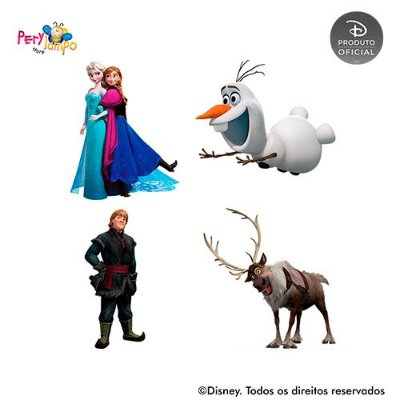 Kit 4 displays de mesa - Frozen - Neve
