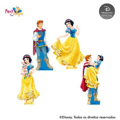 Kit 4 displays de mesa - Branca de Neve e Animais