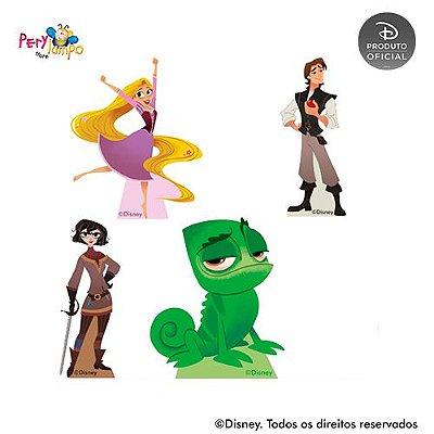 Kit 4 displays de mesa - Enrolados - Rapunzel - Série