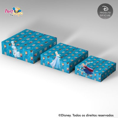 Kit Suportes Bandejas Decorativa - Frozen - Blocos de Gelo