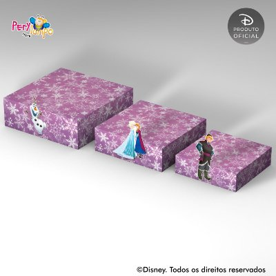 Kit Suportes Bandejas Decorativa - Frozen - Rosa