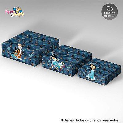 Kit 3 Suportes (Bandejas) para doces com aplique - Aladdin Jasmine - Tapete