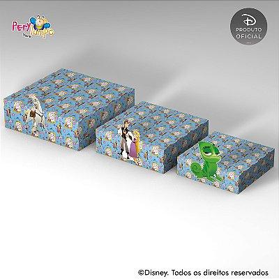 Kit 3 Suportes (Bandejas) para doces com aplique - Enrolados - Rapunzel - Série