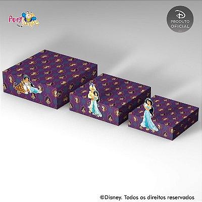 Kit Suportes Bandejas Decorativa - Aladdin Jasmine - Quarto