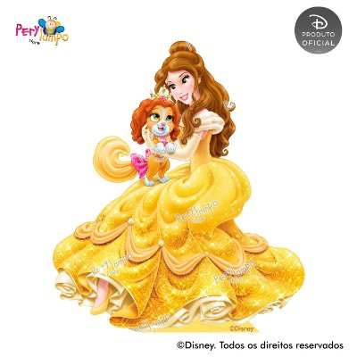 Display Totem de Chão - Princesas Disney & Pets - Bela