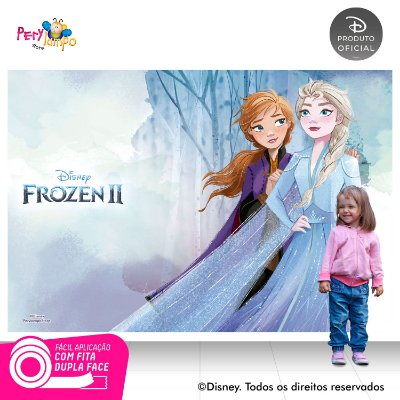 Painel Festa Decorativo Frozen 2 - Aquarela 2 - 2,20m x1,45m