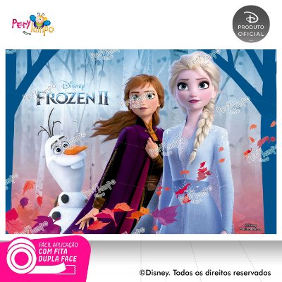 Painel Decorativo Frozen 2 - Empoderadas 1 - 1,45m x 1,00m