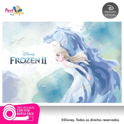 Painel Festa Decorativo Frozen 2 - Elsa Nokk -1,45m x 1,00m