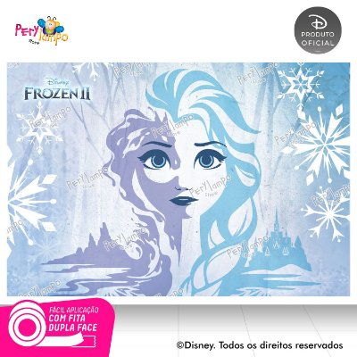 Painel Festa Decorativo Frozen 2 - Elsa Neve - 1,45m x 1,00m