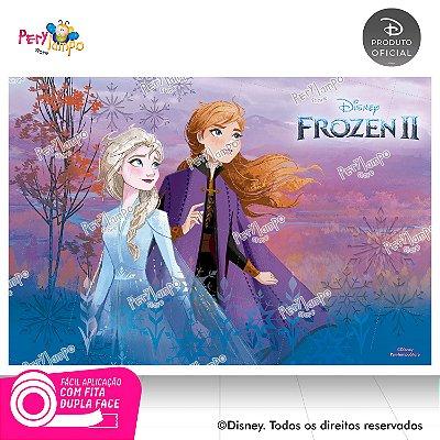 Painel Festa Decorativo Frozen 2 -Aquarela 1 - 1,45m x 1,00m