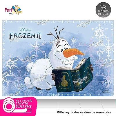 Painel Festa Decorativo Frozen 2 - Olaf Livro - 1,45m x1,00m