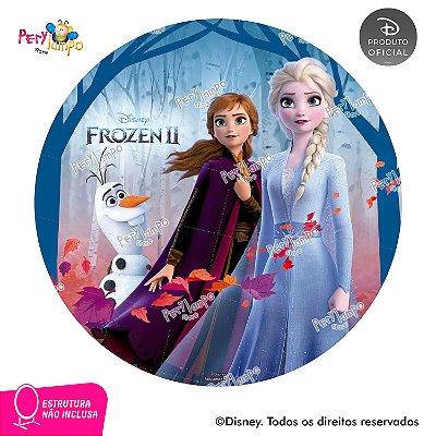 Painel Decorativo Redondo - Frozen 2 - Empoderadas 1 - 1,45D