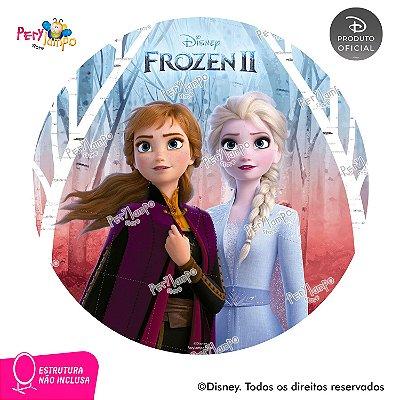 Painel Decorativo Redondo - Frozen 2 - Empoderadas 2 - 1,45D