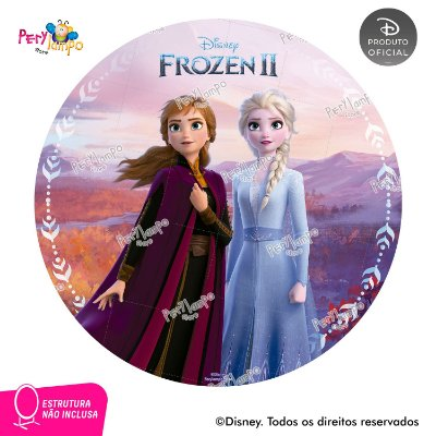 Painel Decorativo Redondo - Frozen 2 - Empoderadas 3 - 1,45D