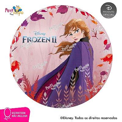 Painel Decorativo Redondo - Frozen 2 - Aquarela Anna - 1,45D