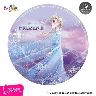Painel Decorativo Redondo - Frozen 2 - Aquarela Elsa - 1,45D