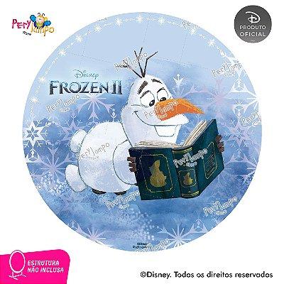 Painel Decorativo Redondo - Frozen 2 - Olaf Livro - 1,45D