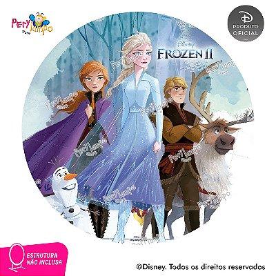 Painel de festa Decorativo Redondo- Frozen 2- Turma 1- 1,45D