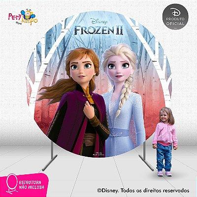 Painel Decorativo Redondo - Frozen 2 - Empoderadas 2 - 2,10D