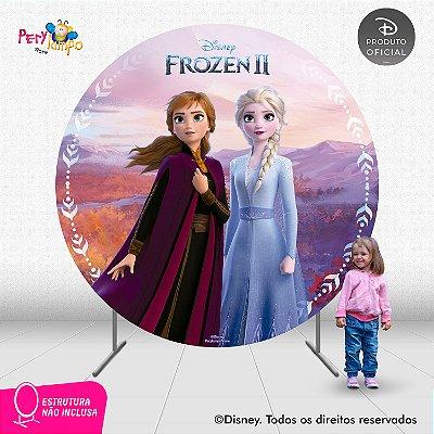 Painel Decorativo Redondo - Frozen 2 - Empoderadas 3 - 2,10D