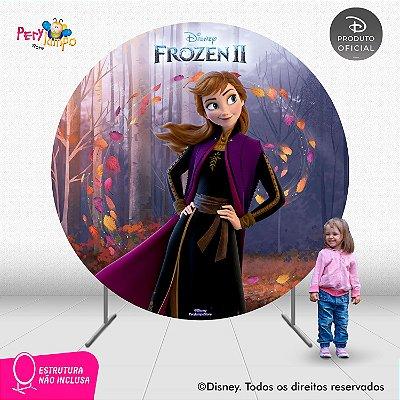 Painel Decorativo Redondo - Frozen 2 - Anna Sensações -2,10D