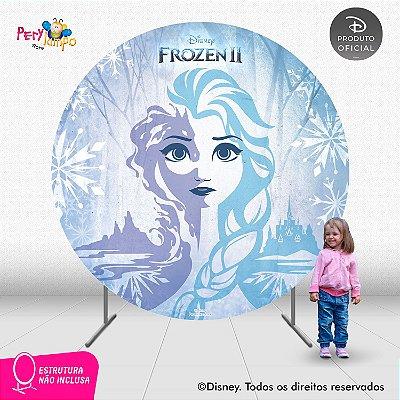 Painel Decorativo Redondo - Frozen 2 - Elsa Neve - 2,10D