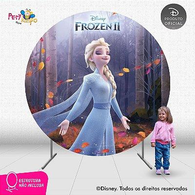 Painel Decorativo Redondo - Frozen 2 -Elsa Sensações - 2,10D