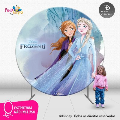 Painel Decorativo Redondo - Frozen 2 - Aquarela 2 - 2,10D
