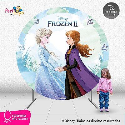 Painel Decorativo Redondo - Frozen 2 - Aquarela 3 - 2,10D