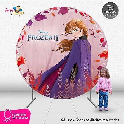 Painel Decorativo Redondo - Frozen 2 - Aquarela Anna - 2,10D