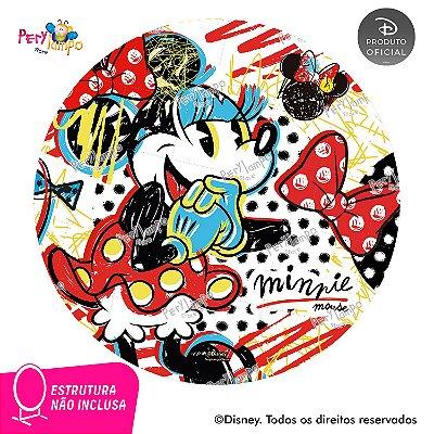 Painel festa Decorativo Redondo - Minnie Conceito - 1,45D