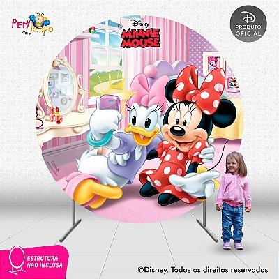 Painel festa Decorativo Redondo - Quarto da Minnie - 2,10D