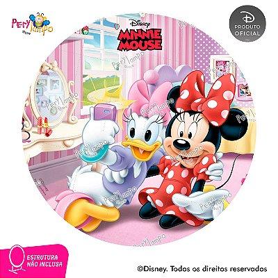 Painel festa Decorativo Redondo - Quarto da Minnie - 1,45D