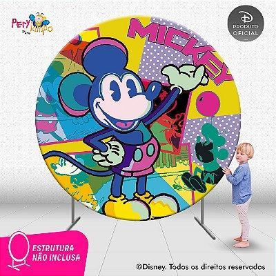 Painel de festa Decorativo Redondo - Mickey Conceito - 2,10D