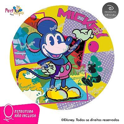 Painel de festa Decorativo Redondo - Mickey Conceito - 1,45D