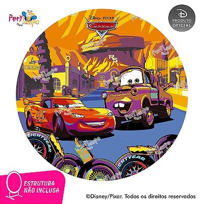 Painel de festa Decorativo Redondo - Carros Deserto - 1,45D