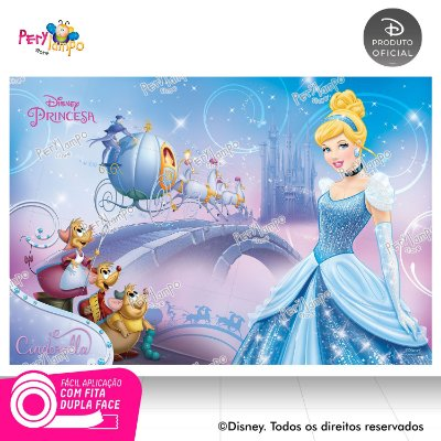 Painel festa Decorativo Cinderela Carruagem - 1,45m x 1,0m