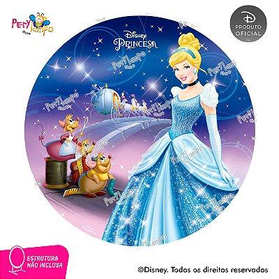 Painel de festa Decorativo Redondo - Cinderela -1,45D