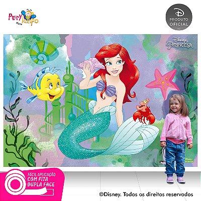 Painel Decorativo Pequena Sereia -Ariel Aquarela-2,20mx1,50m
