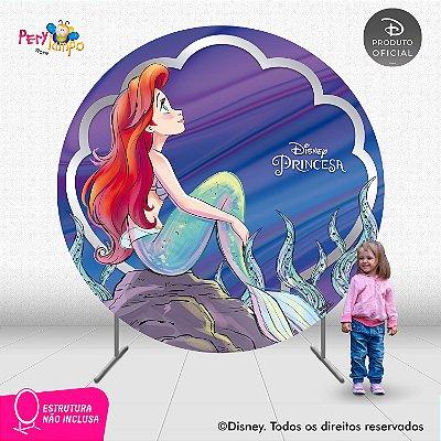 Painel Decorativo Redondo-Pequena Sereia Ariel 30 anos-2,10D