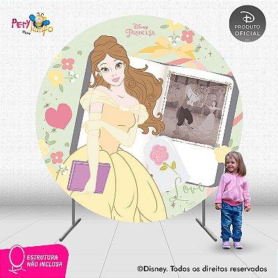 Painel Decorativo Redondo - A Bela e a Fera Álbum - 2,10D