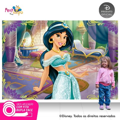 Painel Decorativo Aladdin - Jasmine - Quarto - 2,20m x 1,45m