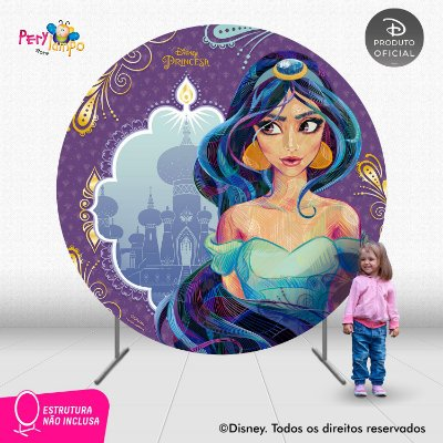 Painel Decorativo Redondo - Aladdin - Jasmine Conceito-2,10D