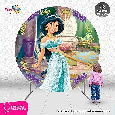 Painel Decorativo Redondo- Aladdin - Jasmine Quarto - 2,10D