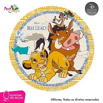Painel Decorativo Redondo O Rei Leão Timão e Pumba - 1,45D