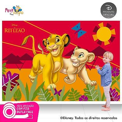 Painel festa Decorativo O Rei Leão Simba e Nala 2,20m x1,45m