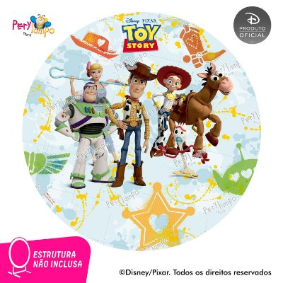 Painel festa Decorativo Redondo - Toy Story Amigos - 2,10D