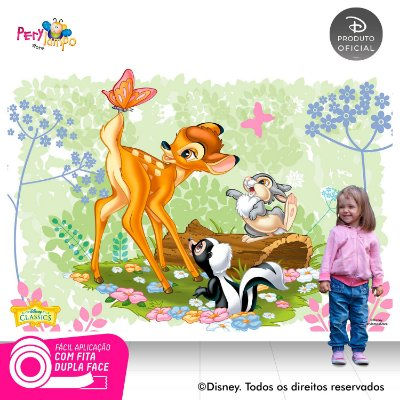 Painel festa Decorativo Bambi - 2,20 x 1,45m